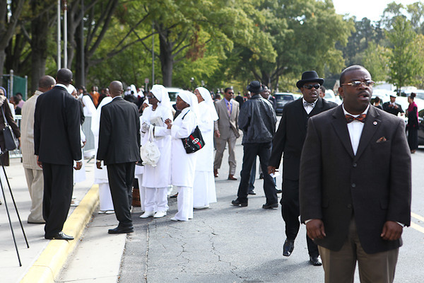 Minister Louis Farrakhan of the Nation of Islam delivers the speech commemorating the 17th Anniversary of The Million Man March