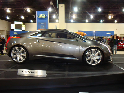 Cadillac Converj - a hybrid concept car not yet available.