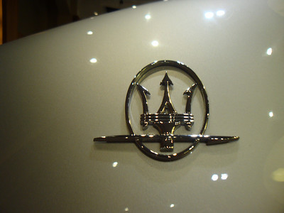 The Maserati emblem.