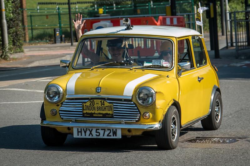 Yellow HYX 572W London to Brighton Mini Run 2014