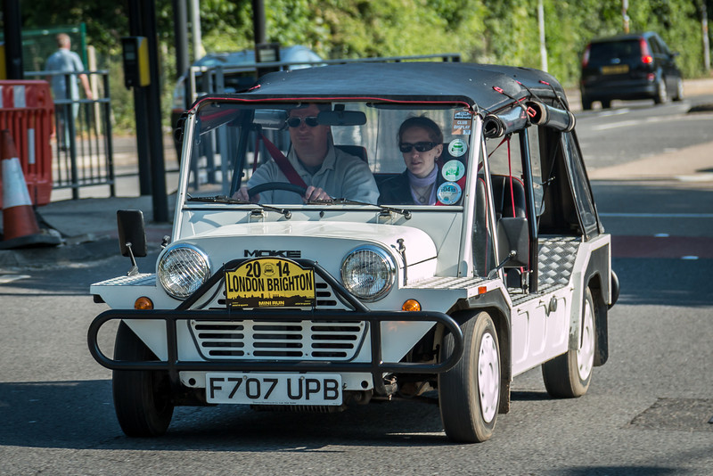 Mini Moke F707 UPB London to Brighton Mini Run 2014