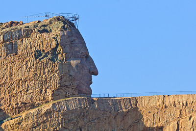 "Series 2 of 26 - Here is another Indian, the likeness of the famous  ""Crazy Horse"" carved in stone..."