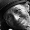 """""""Life Lines"""" I ran into this Native American Indian woman on the street in Otavalo, Ecuador."""