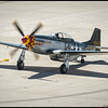 Another shot of the P-51 'Wee Willy II' just as it pulled up to be chocked.