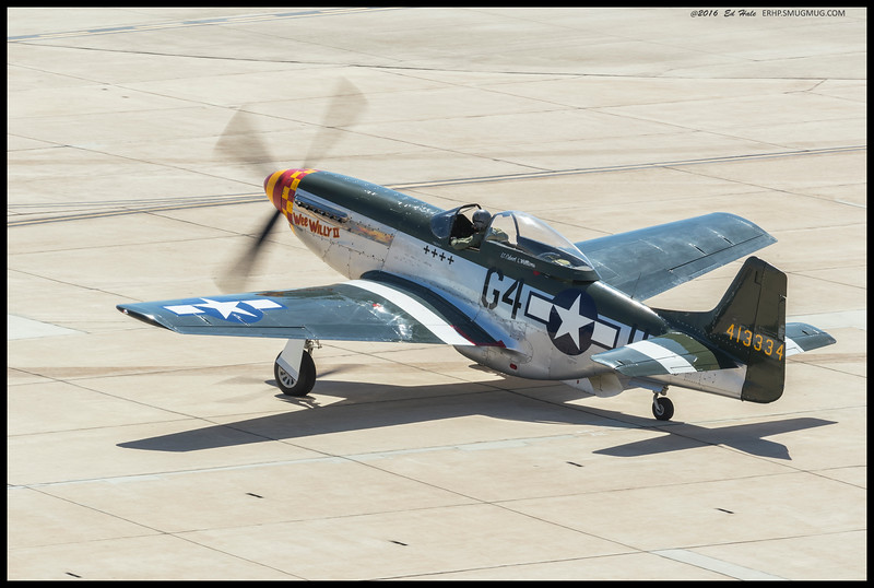 "The P-51 Mustang ""Wee Willy II"" which was part of the Heritage Flight."