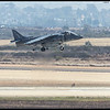 A Harrier playing a game of roast the tarmac.