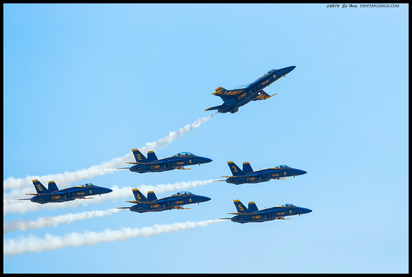 Final flyover as a group as #1 breaks off the formation.
