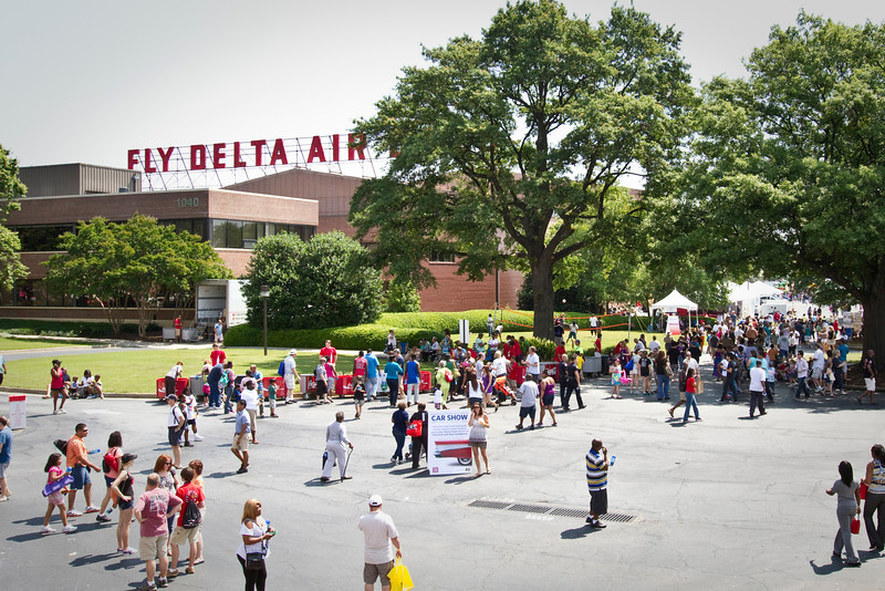 May 19, 2012. Atlanta, Georgia. Delta Air Lines hosted the 2012 Atlanta Employee Block Party from 10:00 A. M. to 5:00 P. M.. Employees, retirees and their immediate families were treated to free food, drinks and entertainment.