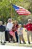 April 6, 2011. Falcon Field, Peachtree City, Georgia. U. S. Army Private Jeremy Faulkner returns home. Hundreds of people lined the route from Peachtree City, shown here, to Stockbridge, Georgia.