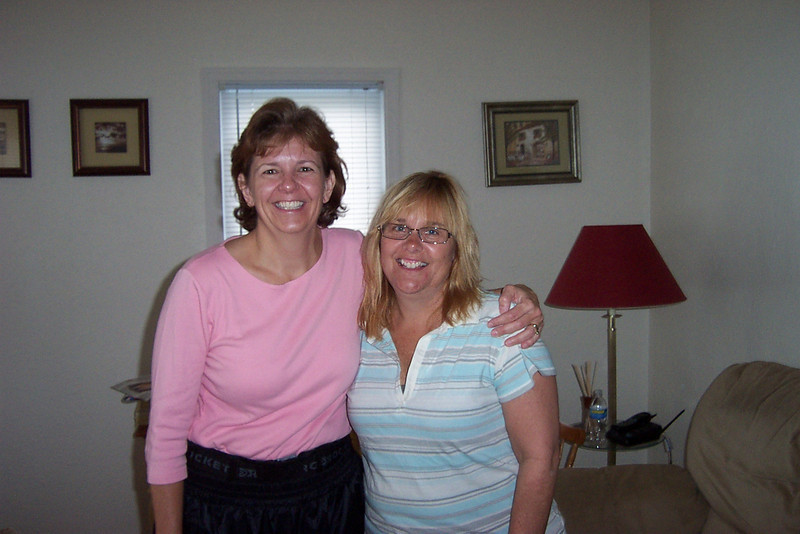Cindi Biggs and Dianne at their 30th High School Reunion, 2008.
