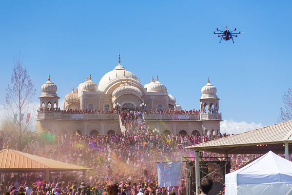 OctoCopter taking in Holi 2013