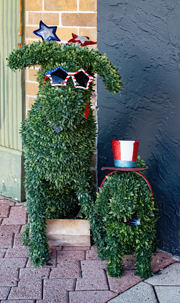 A couple garden topiaries of these cute looking dogs.