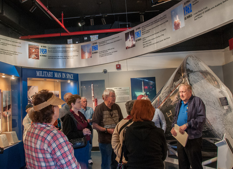 • Museum Exhibit Hall<br /> • Our tour guide is the gentlemen, Bob Graveline,  on the right side of this photo