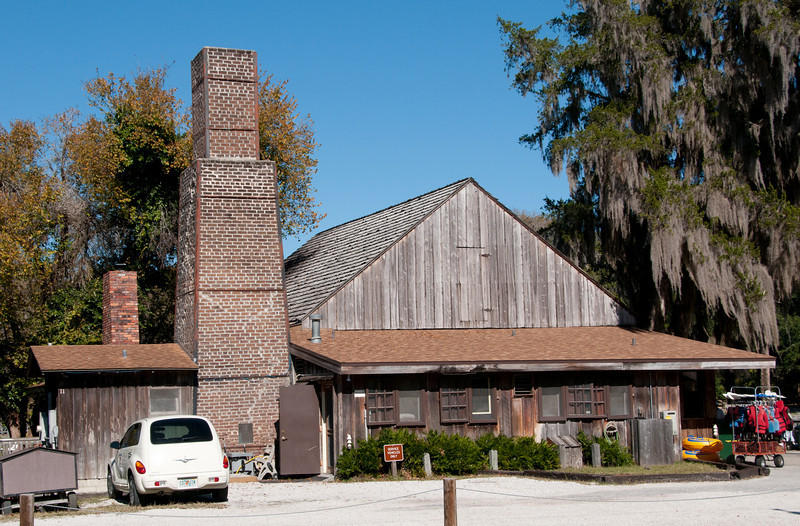 • DeLeon Springs State Park<br /> • Old Spanish Sugar Mill Restaurant<br /> • View of the side of the restaurant