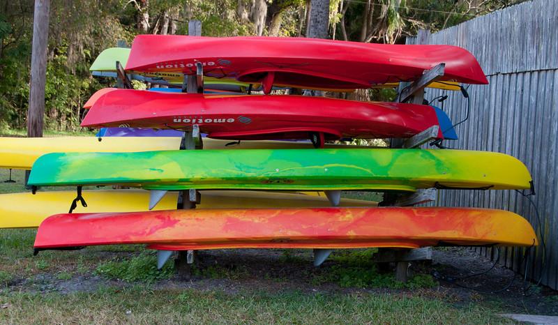 • DeLeon Springs State Park<br /> • Colorful canoes<br /> • Pre HDR