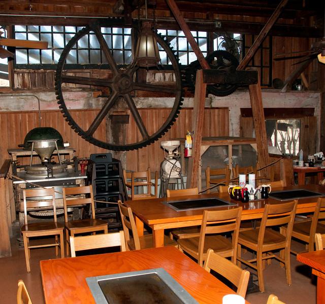 • DeLeon Springs State Park<br /> • Old Spanish Sugar Mill Restaurant<br /> • View inside the restaurant