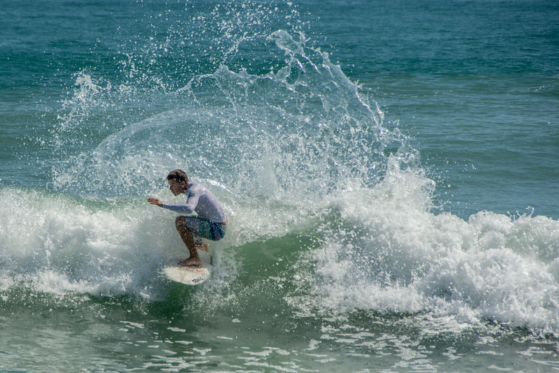 • Location - Sebastian Inlet State Park North Jetty<br /> • One of the few people I saw surfing