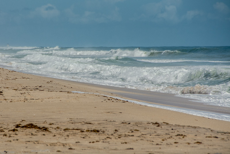 • Location - Sebastian Inlet State Park North Jetty<br /> • Ruff surf looking north