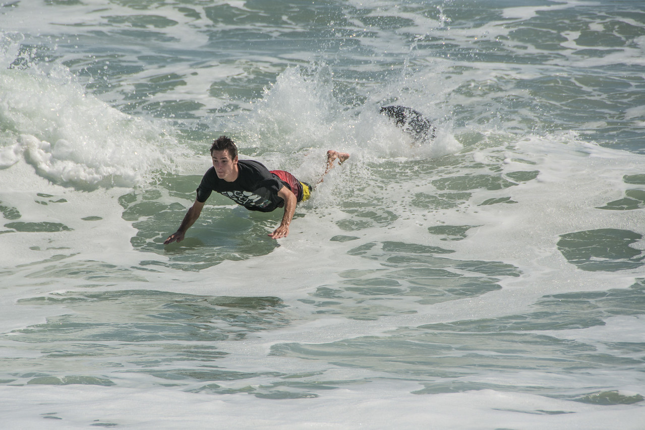 • Location - Sebastian Inlet State Park North Jetty<br /> • These people are Skimboarding. Yes, that is different from surf boarding.