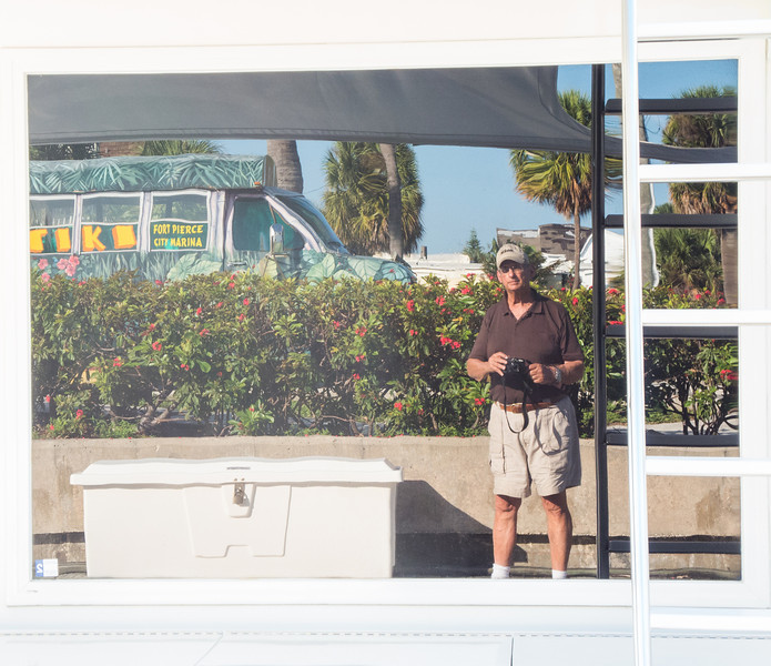 • Fort Pierce City Marina<br /> • Yep, that is a reflection of me that I took.