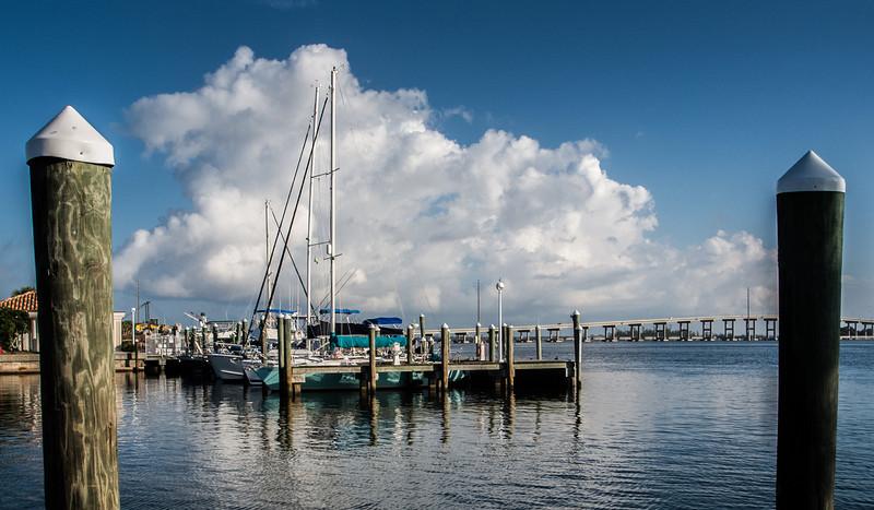 • Fort Pierce City Marina<br /> • View from the marina