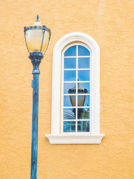 • Historic Ft Pierce<br /> • A reflection lamp post in the window