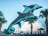• Historic Ft Pierce<br /> • A pair of dolphins metal statue