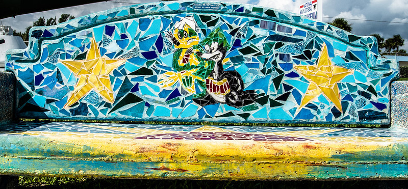 • National Navy UDT - Seal Museum<br /> • Mosaic tiles on a bench