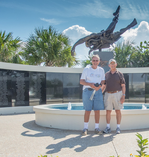 • National Navy UDT - Seal Museum<br /> • Ed and I are standing in front of the Memorial Obelisk