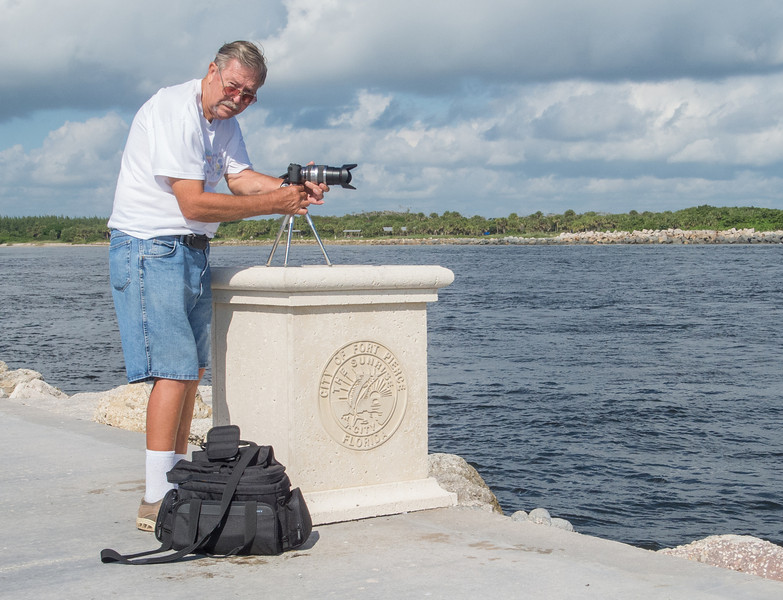 • Fort Pierce Inlet<br /> • Ed setting up his camera to take some photos