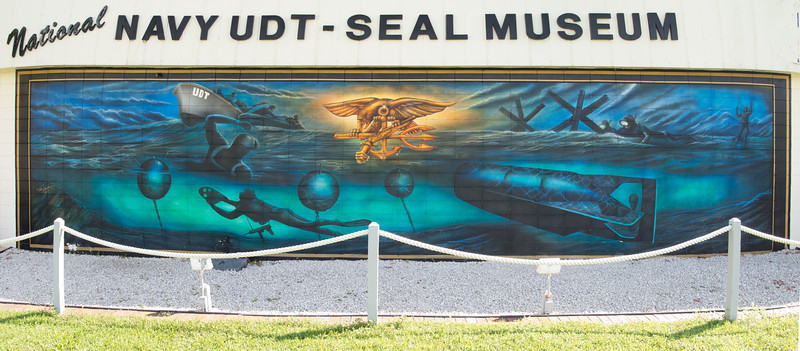 • National Navy UDT - Seal Museum<br /> • A mural on the side of the museum