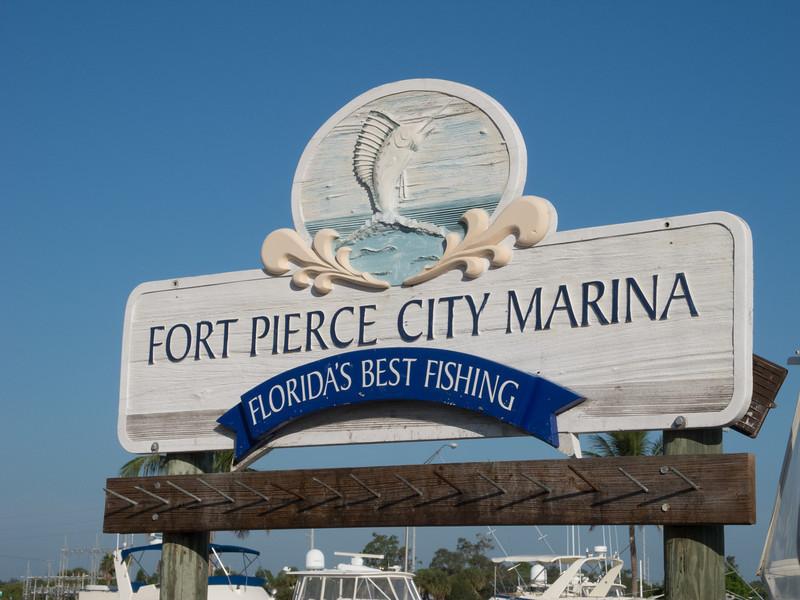 • Fort Pierce City Marina<br /> • Fort Pierce City Marina sign