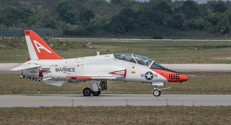 FSX Marines VT-9 T45 C Tiger Jet taxing down the runway