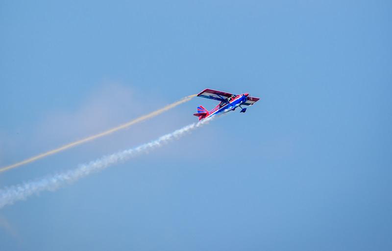 John Black in the Super Decathlon aerobatic plane