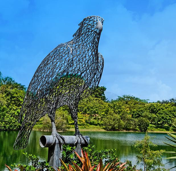 What a big wire bird!