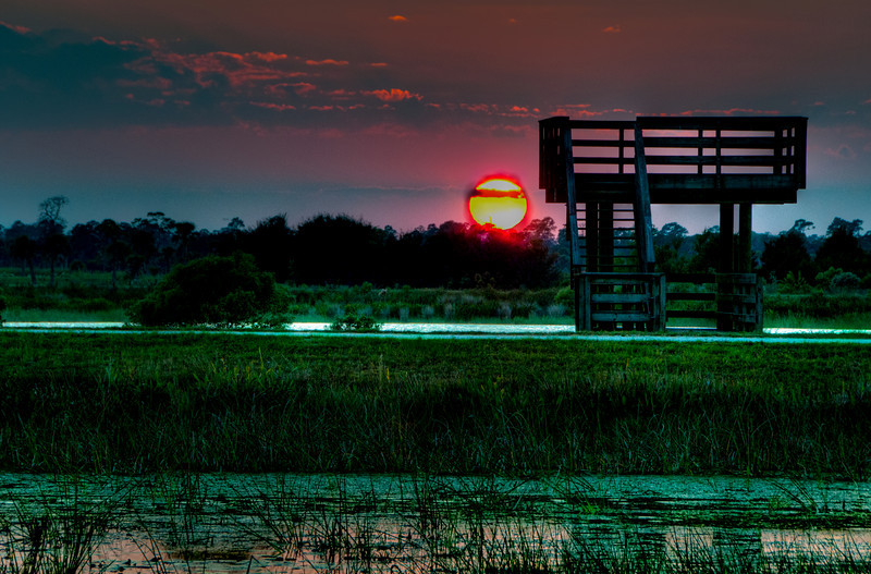 Sunset at the Viera Wetlands - HDR
