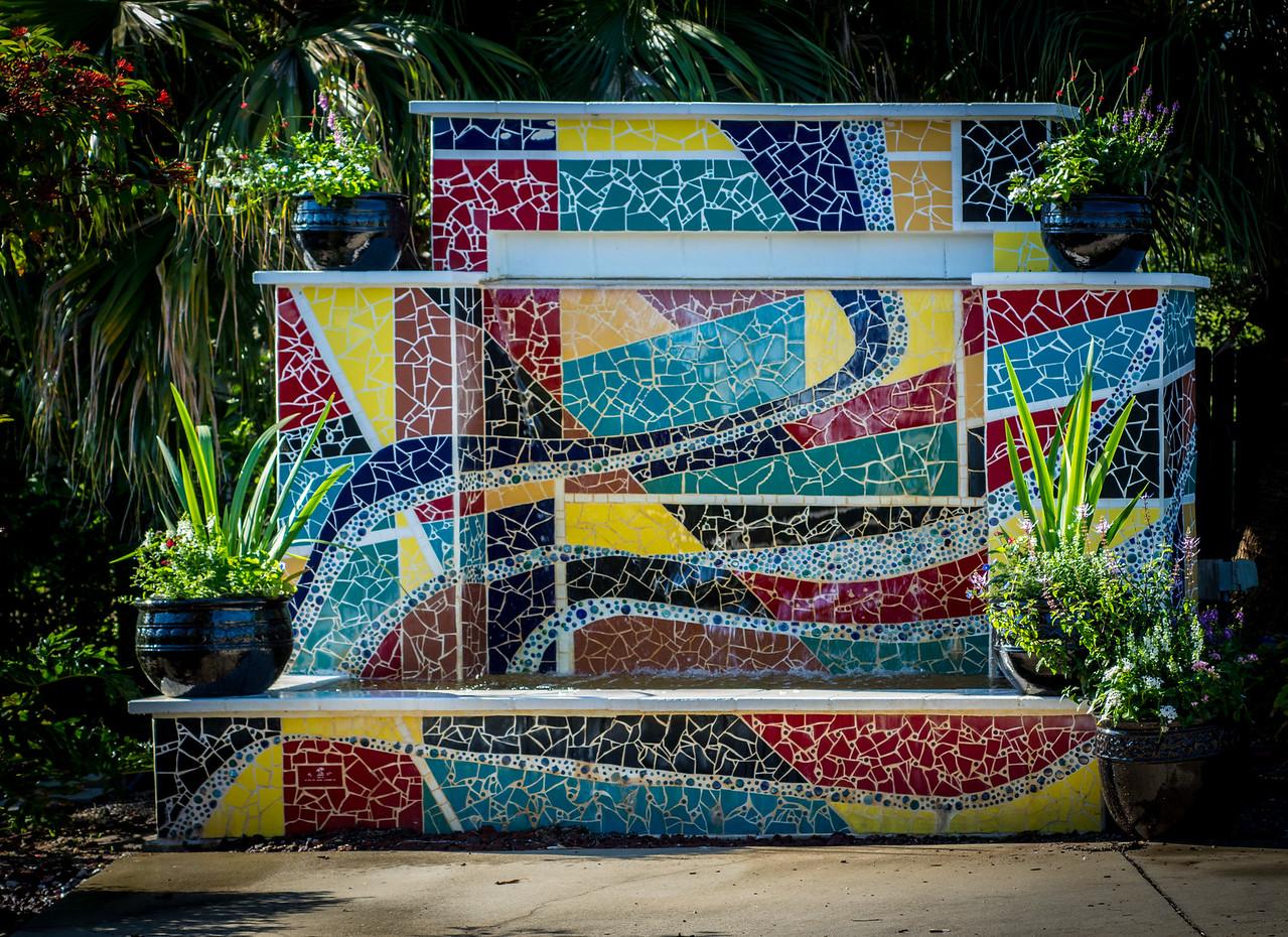 • Location - Rockledge Gardens<br /> • Interesting ceramic mosaic tile design