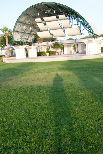 Cocoa Village Amphitheater - That is my shadow in this photo