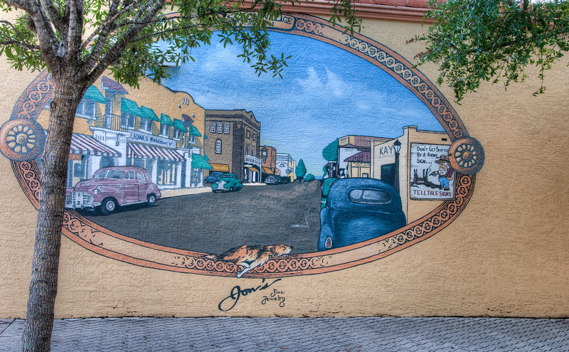 Cocoa Village Wall Painting - HDR Processed