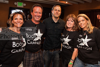 Charlie Hunnam from TV's Sons Of Anarchy with fans at the Boot Ride, Hollywood, CA. 8-26-12
