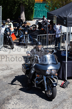 Mark Boone Jr. & other cast members from tv's Sons Of Anarchy ride into the Boot Ride event 8-26-12