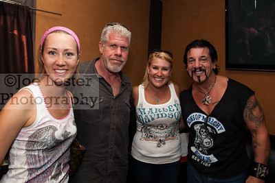 Ron Perlman & Chuck Zito from TV's Sons Of Anarchy with fans at the Boot Ride, Hollywood, CA. 8-26-12