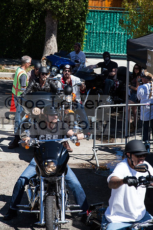 Kim Coates & cast members from tv's Sons Of Anarchy ride into the Boot Ride event 8-26-12