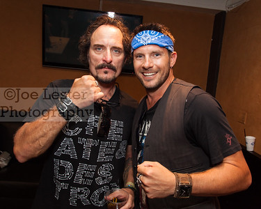 Kim Coates (L) from TV's Sons Of Anarchy with Rossi Morreale (R) at the Boot Ride, Hollywood, CA. 8-26-12