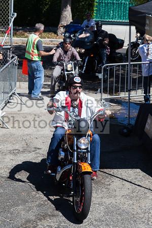 Chuck Zito rides into the Boot Ride event 8-26-12