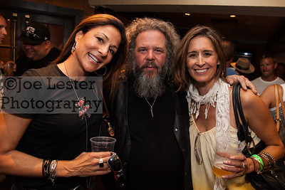 Mark Boone Jr. (C) from TV's Sons Of Anarchy with fans at the Boot Ride, Hollywood, CA. 8-26-12