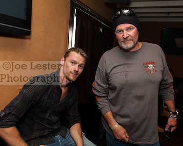 Scott Hillstrand (L) from TV's Deadliest Catch at the Boot Ride, Hollywood, CA. 8-26-12