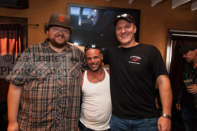 Matt Bradley (C) & Mike Fourtner (R) from TV's Deadliest Catch at the Boot Ride, Hollywood, CA. 8-26-12