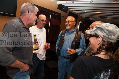 Ron Perlman & Dayton Callie from TV's Sons Of Anarchy talk with fans at the Boot Ride, Hollywood, CA. 8-26-12