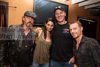 Mike Fourtner & Scott Hillstrand (R) from TV's Deadliest Catch & Tommy Flanagan (L) from TV's Sons Of Anarchy at the Boot Ride, Hollywood, CA. 8-26-12